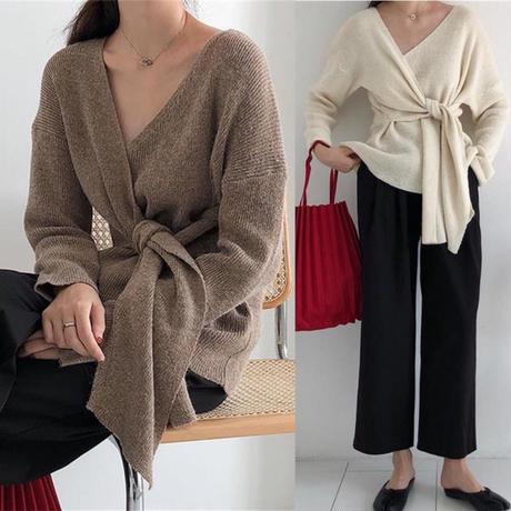 即納/cache-coeur knit