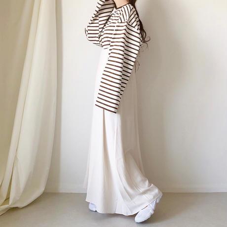 バックリボンサロペットスカート /アイボリー