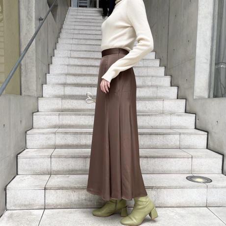サテンマーメイドロングスカート/2color
