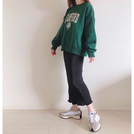 細プリーツタイトスカート/ブラック