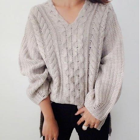 即納/wool mix-low gauge knit