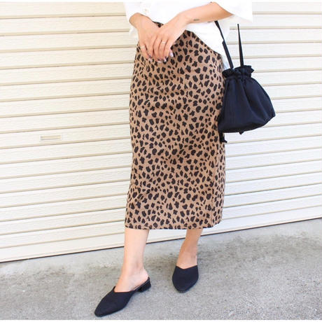 即納/leopard long tight skirt