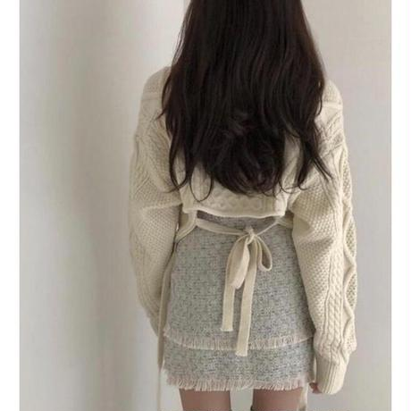 即納/back conscious knit