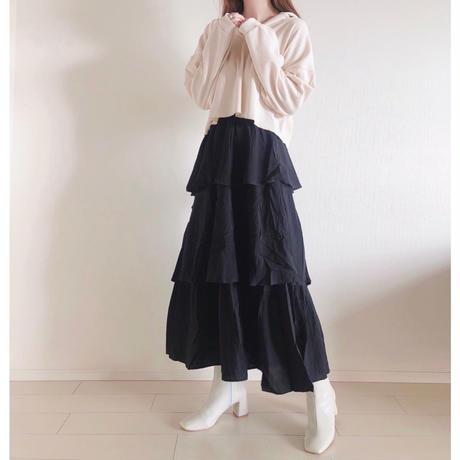 ランダムティアードロングスカート/2color