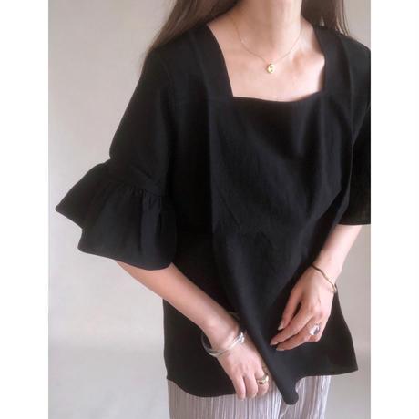 flare sleeve pullover blouse/ホワイト・ブラック