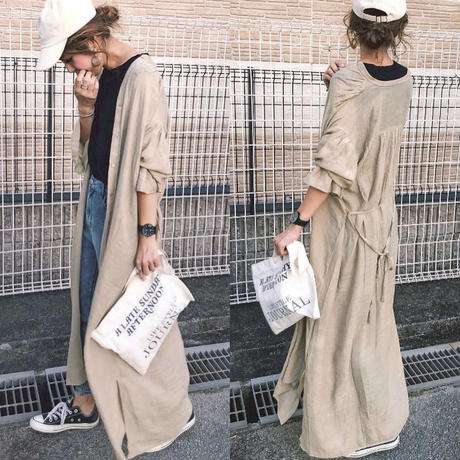 即納/long gown  gauze one-piece