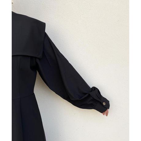 S/S sailor collar long one piece