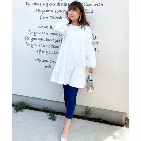 gather cut tunic onepiece