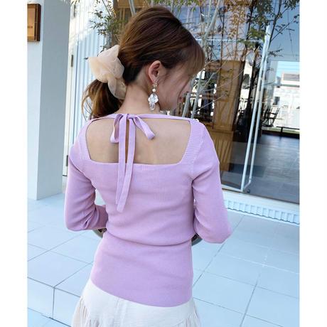 S/S back ribbon tops