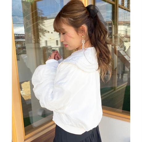【再入荷】S/S pleats collar blouse