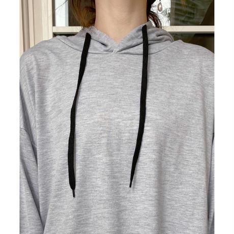 裾アシメパーカーOP