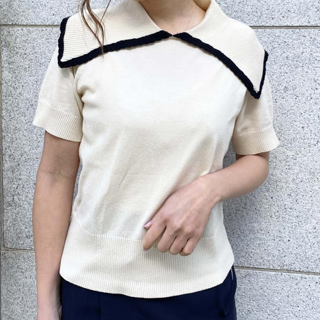 S/S sailor piping tops