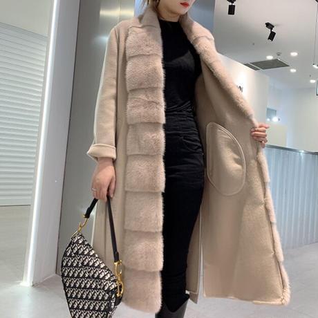 カシミヤミンクコート 3色展開