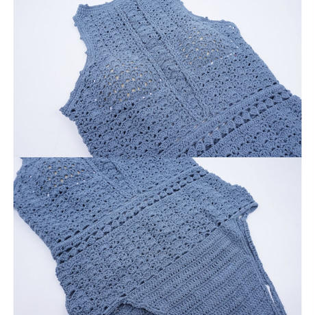 かぎ針編みモノキニ 水着 3色展開