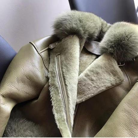 超高品質♡フォックスファーレザージャケット 5色展開