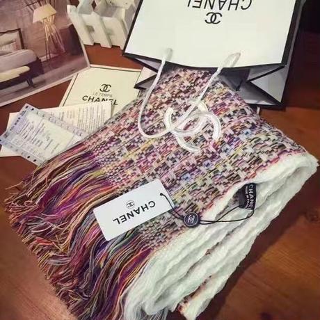 再入荷!人気シャネル高品質ウールマフラー 2色選 可愛い シンプル ウィメンズファッション 美品 カジュアル