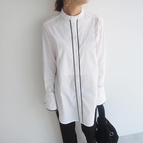 19aw パイピングタキシードロングシャツ