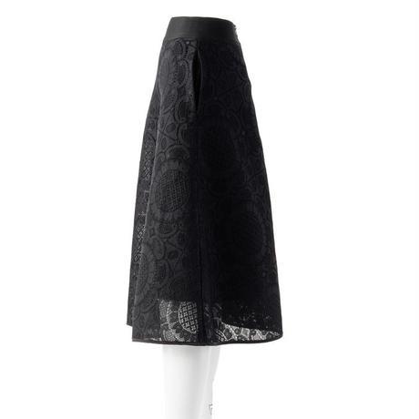 メッシュボンディングレーススカート