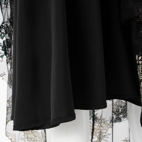 デザインチュールレーススカート(ブラック)