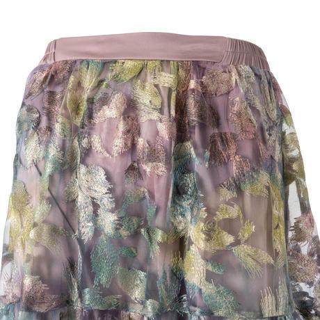オーロラプリントティアードスカート
