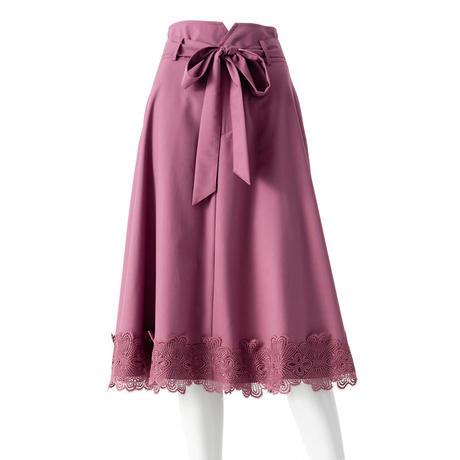 モチーフレースドレススーツスカート(ピンク)