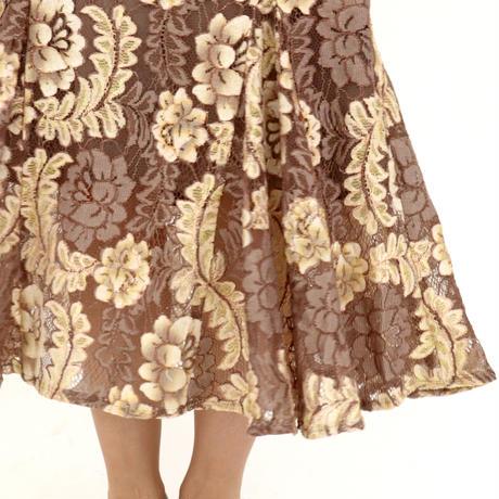 レースプリントマーメイドスカート
