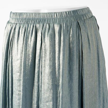 フロントスリット偏光色スカート(ブルー)