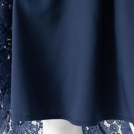 バイカラーレースチューリップスカート(ネイビー)