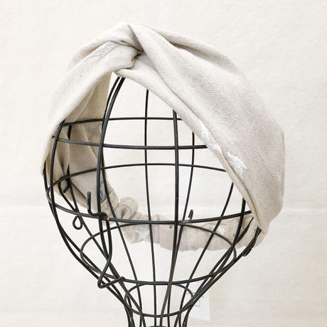 CROSS TURBAN /  Linen Bird Gray