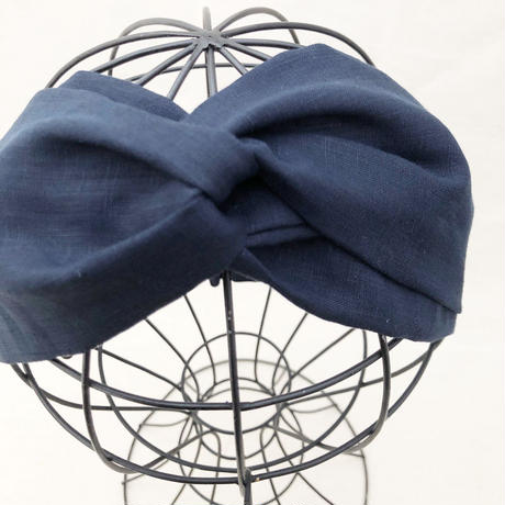 CROSS TURBAN /  Linen Navy