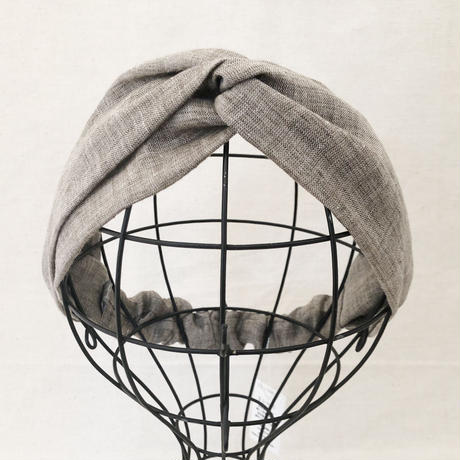 CROSS TURBAN /   Linen Natural Brown