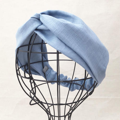 CROSS TURBAN /  Linen Ice Blue