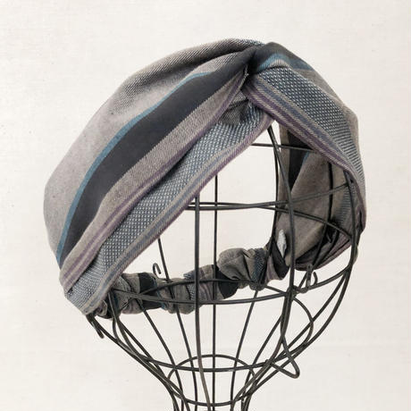CROSS TURBAN /   Charcoal Grey Border
