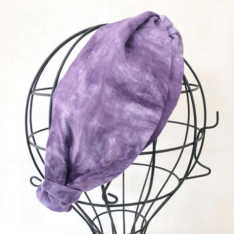 CROSS TURBAN /  French Linen Purple
