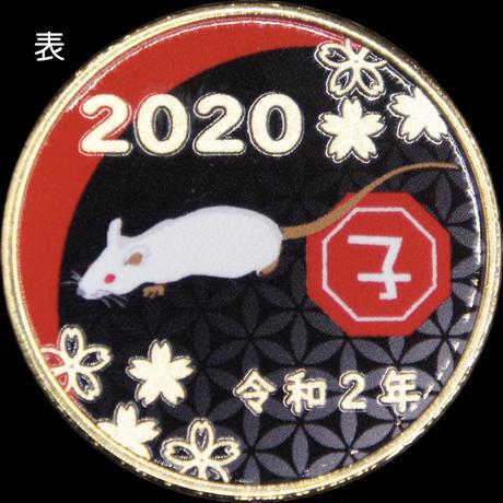 【干支】2020子年メダルBLACK ゴールド色・シルバー色
