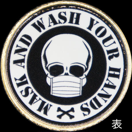 Mask&Wash Your Handsメダル black・pink