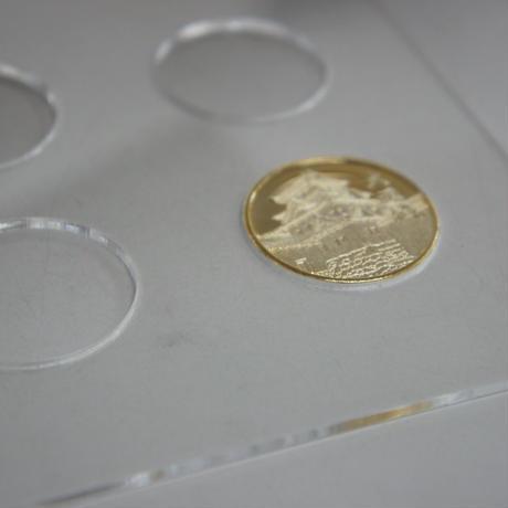 送料無料【受注生産商品】城専用記念メダルコレクション額(A3サイズ)