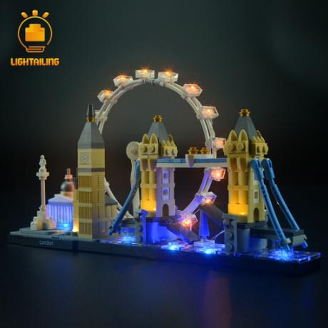 レゴ アーキテクチャー 21034 ロンドンスカイライン 互換 [LED ライトキット+バッテリーボックス] ライトアップセット