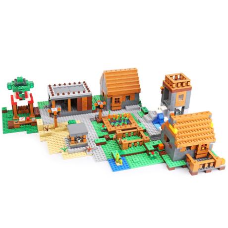 レゴ マインクラフト ザ・ヴィレッジ 21128 互換品 ブロック 1673ピース The Village LEGO風 輸入品