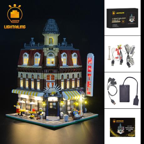 レゴ 10182 カフェコーナー 互換 LEDライトキット バッテリーボックス ライトアップ セット