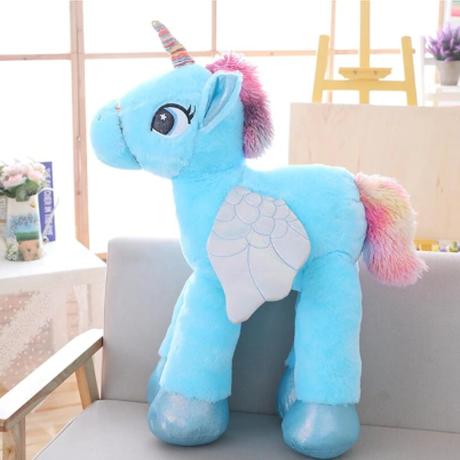 ユニコーン 巨大ぬいぐるみ 60cm 大きい かわいい 安い おもちゃ 馬 ピンク 青 白 誕生日プレゼントにも