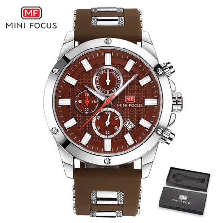 【MINIFOCUS】 腕時計 クロノグラフ メンズ 3気圧防水 シリコンベルト クォーツ 日付表示 ルミナスハンズ 発光 スポーツ 海外ブランド 選べる3色