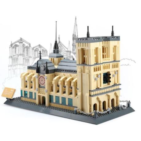 レゴ互換 ノートルダム大聖堂 パリ 1380ピース LEGO風 知育玩具 プレゼントにも