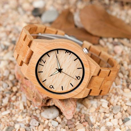 バンブーウォッチ ボボバード竹製腕時計 BOBO BIRD メンズ竹製 ウッドウォッチ 木製 クォーツ D27