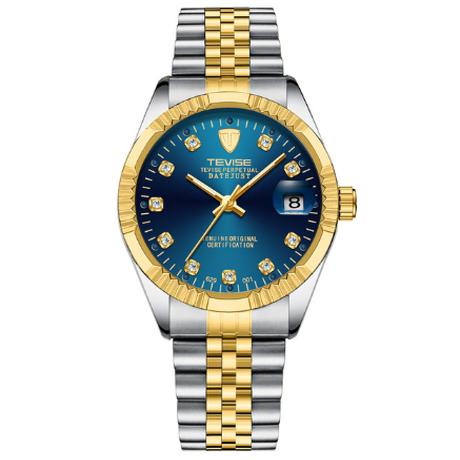 【TEVISE】 メンズ腕時計 自動巻き 機械式 3気圧防水 日付表示 ステンレス製 発光 ルミナスハンズ 海外トップブランド ビジネス 選べる3色
