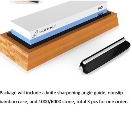 Sunnecko 砥石 プロ 業務用 いいやつ おすすめ 粗さ2段階 #1000 #6000 滑らない竹の土台 ナイフシャープナー 包丁砥ぎ器