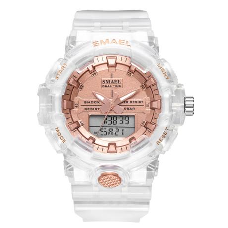 【爽やかな色】 2020 SMAEL ユニセックス ミリタリー腕時計 スポーツウォッチ デジタル LED 日付表示 クォーツ 女性用 8025 【選べる3色】