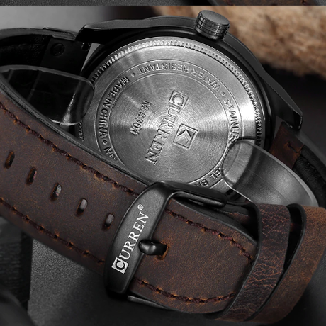 CURREN 腕時計 防水 本革ベルト 日付表示 日本製クォーツ ミリタリー スポーツ カレン 海外高級ブランド 選べる5色