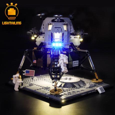【LEDライトキット】 NASA アポロ11号 月着陸船 10266 レゴ互換 【ライトアップセット】