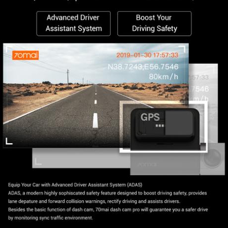 70mai ドライブレコーダー 1944p 32GB SDカード 140°広角 駐車監視 24時間 監視カメラ ボイスコントロール WDR 高性能 ダッシュカム 音声 英語 ロシア語